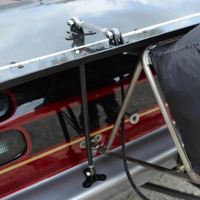 Raw Aluminum Wing mounting kit 2