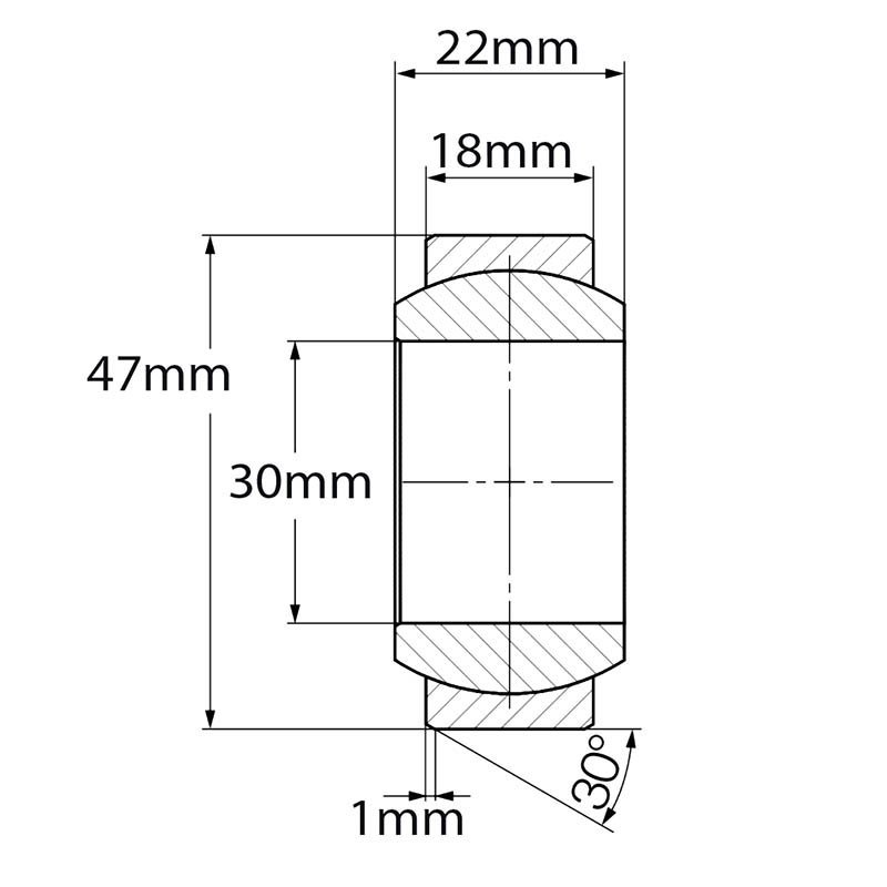 High misalignment polymer bearing