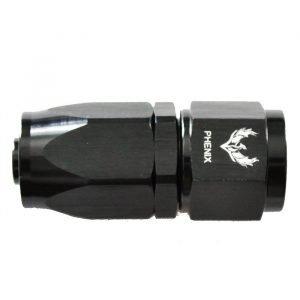 Black Compression Swivel Hose End -16AN Straight