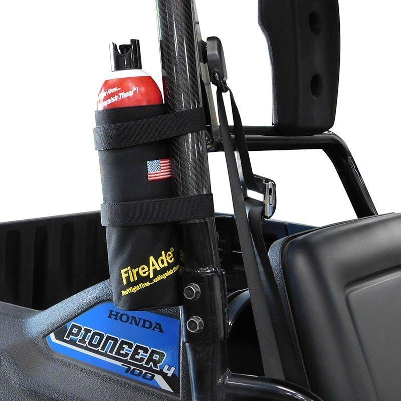 FireAde Bottle in holster mounted
