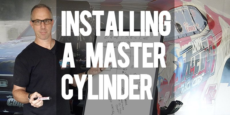 How to mount a master cylinder in your drag car for correct pedal ratio